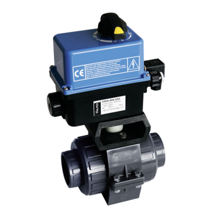 Praher 2-way Ball Valve S4 PVC-U Electric Actuator Valpes