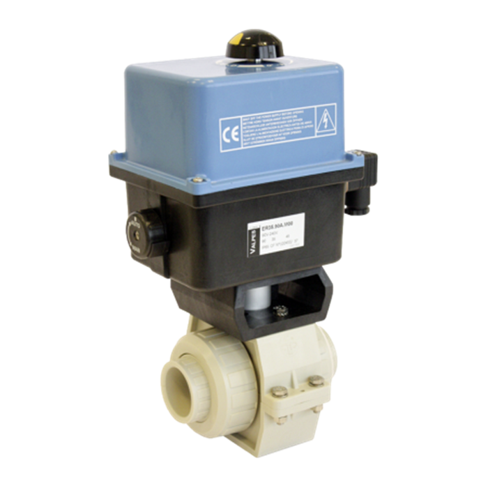 Praher 2-way Ball Valve S4 PP Electric Actuator Valpes